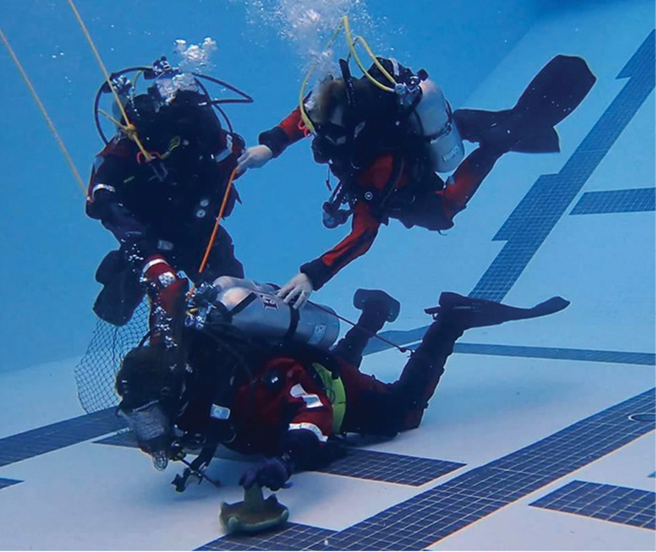 Dive team rescue