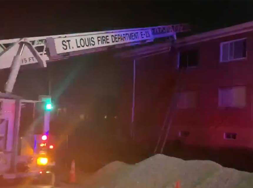 St. Louis apartment fire rescue