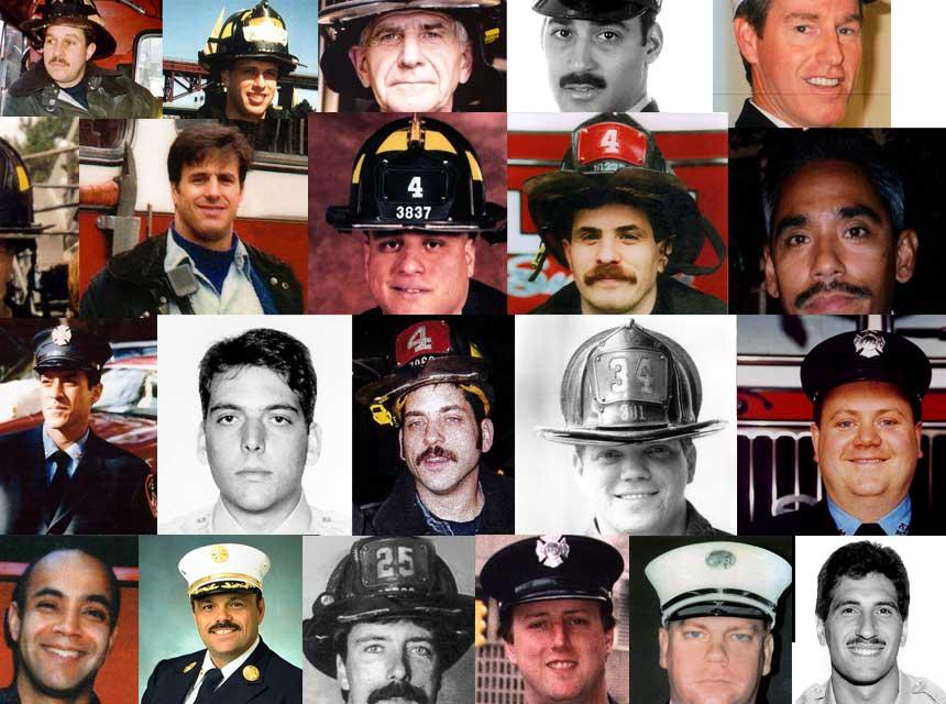 Fallen members of the FDNY on 9/11