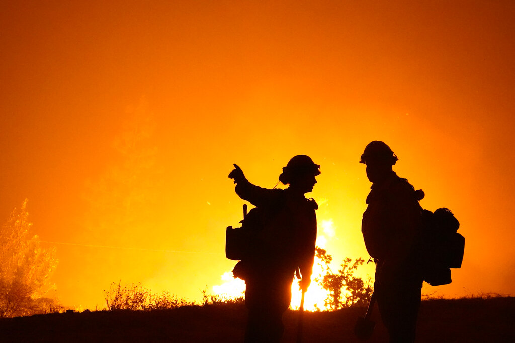 Firefighters at California wildfire