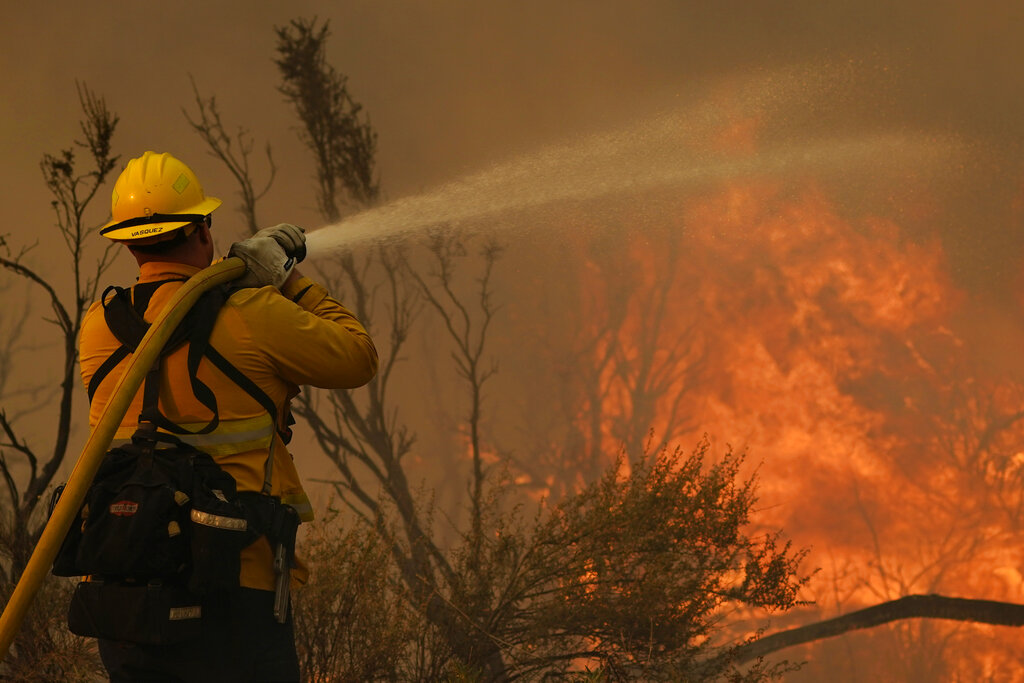 Firefighter at Bobcat Fire