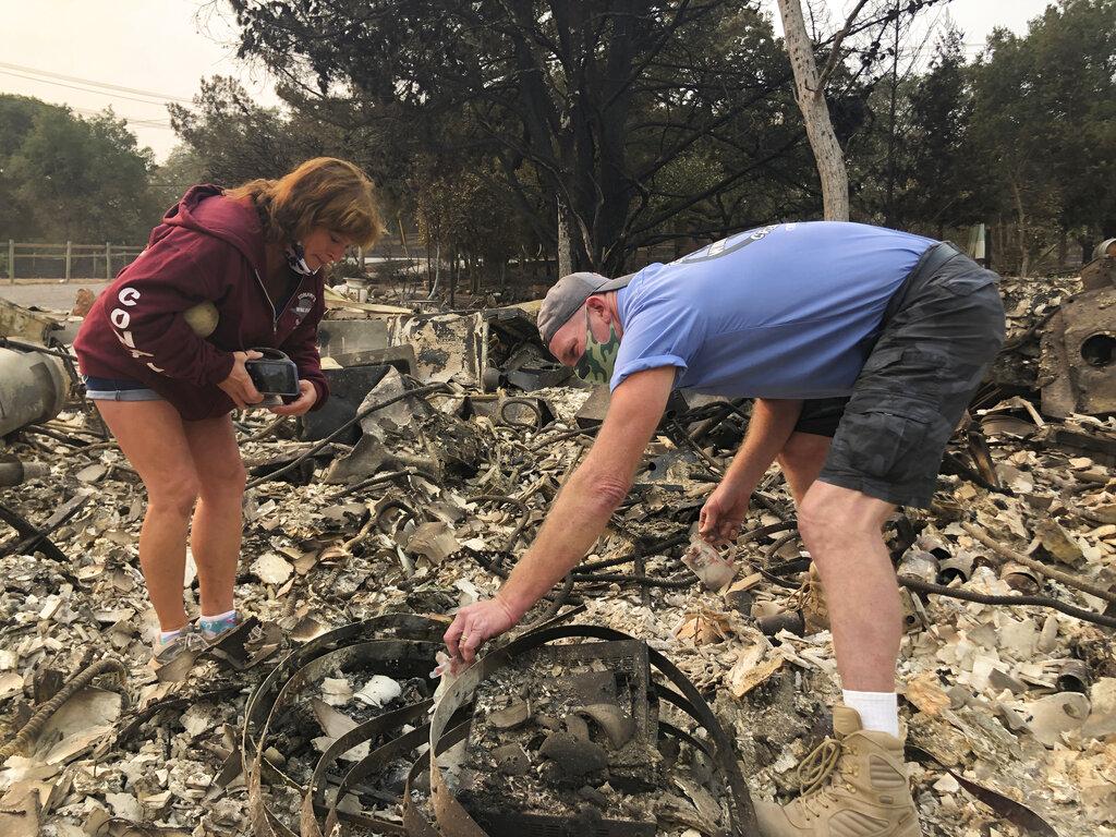 California residents return to devastation