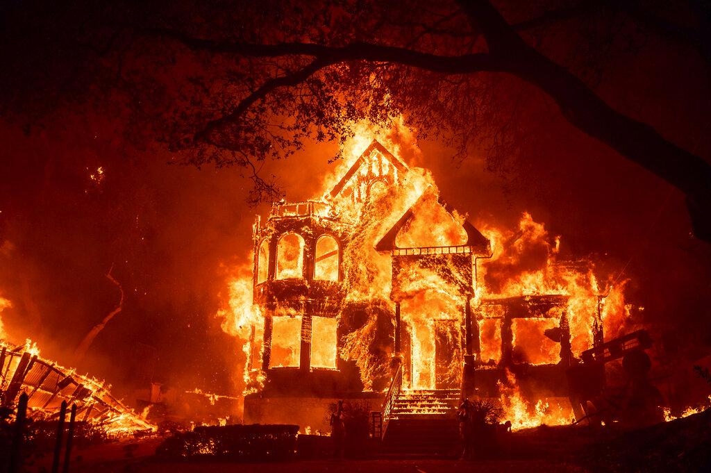 Glass Fire burns structure