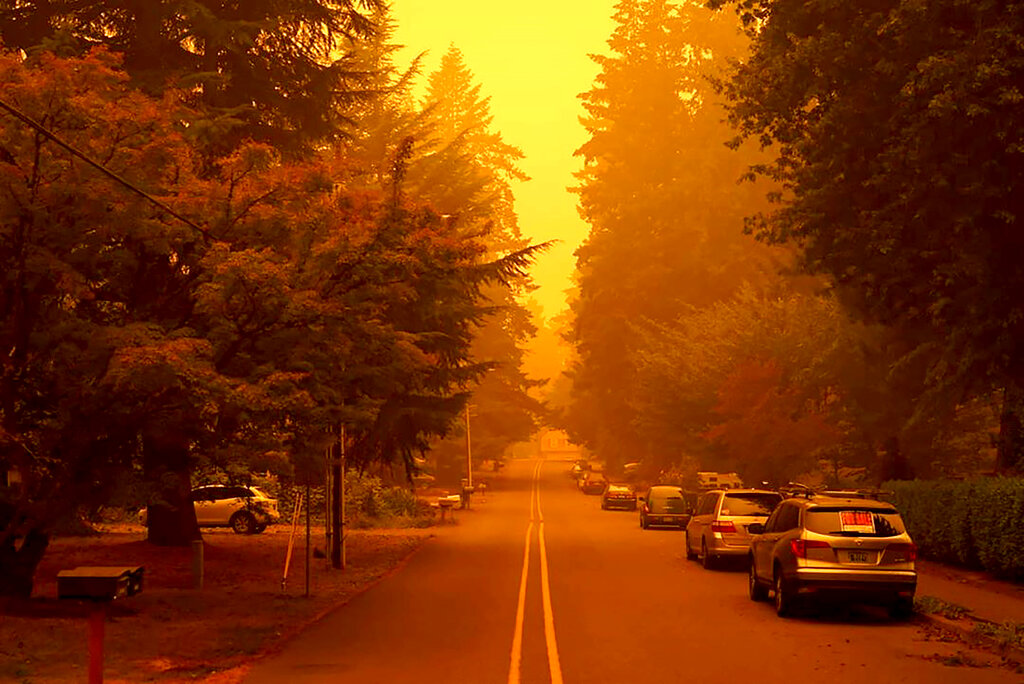 Oregon wildfire smoke