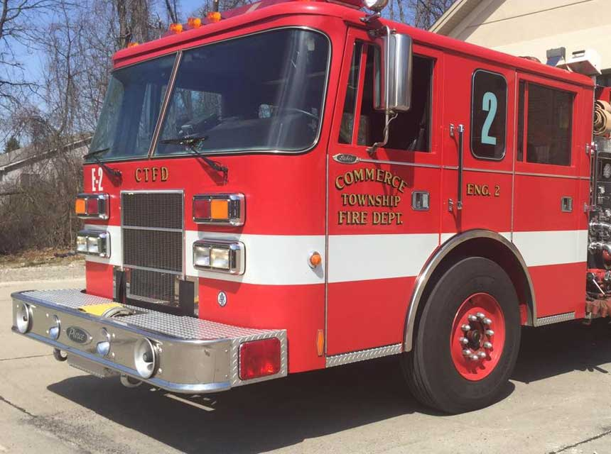 Commerce Township Fire Department apparatus
