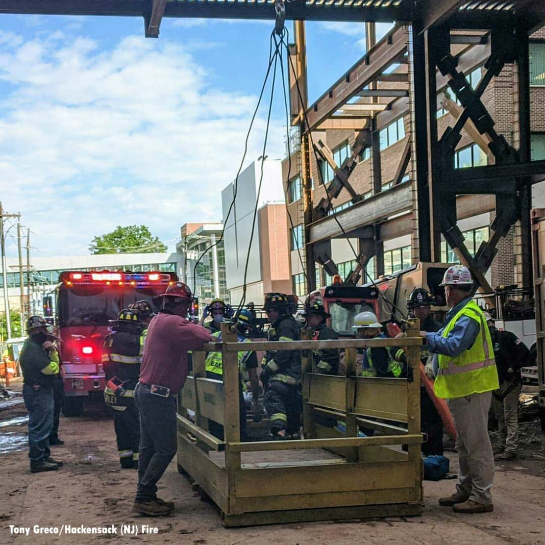 Construction site rescue in Hackensack