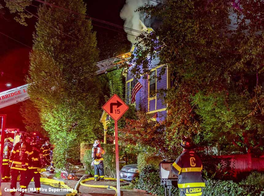 Residential fire that left three firefighters injured and one resident dead in Cambridge