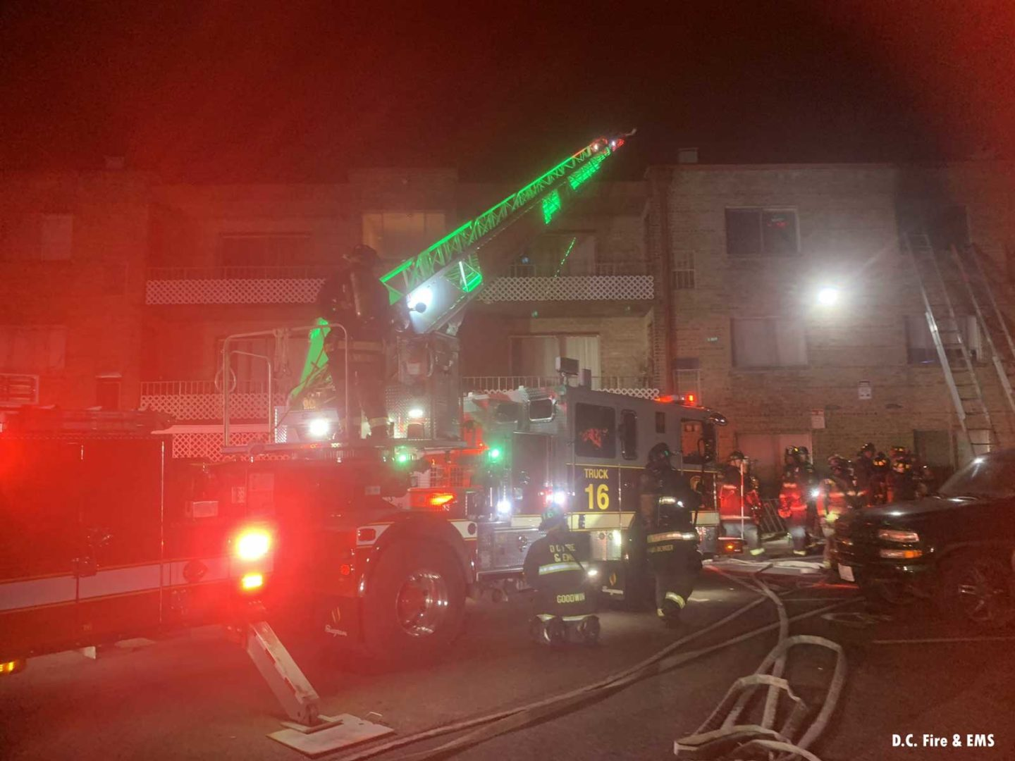 D.C. fire apparatus at the fire scene