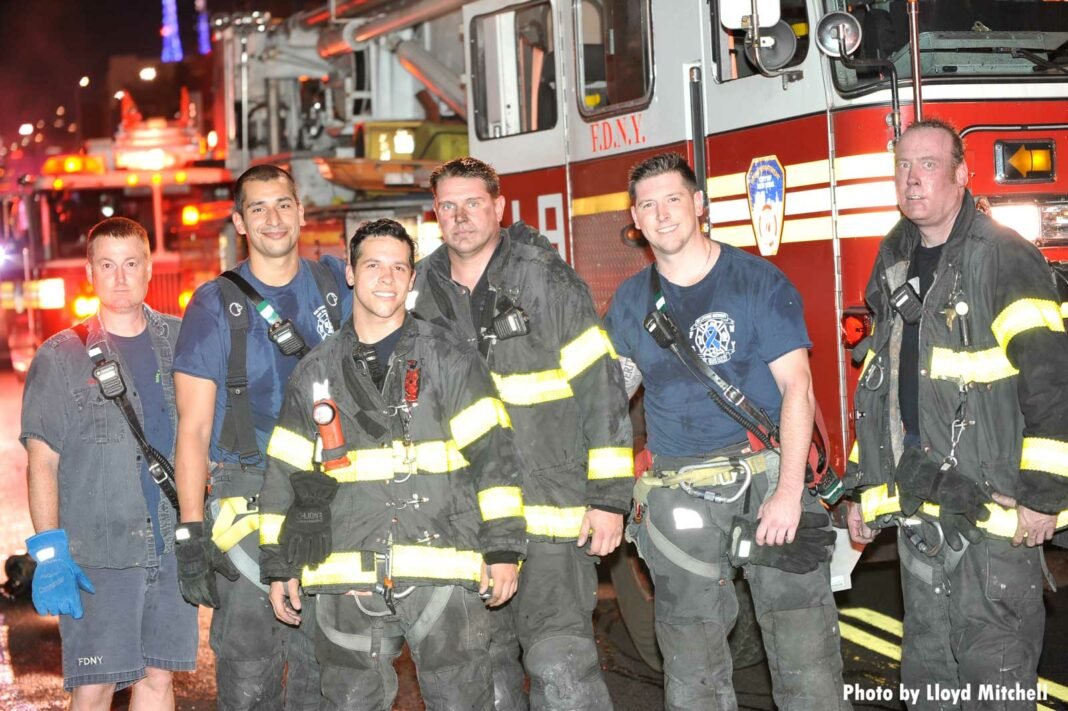 FDNY members after a fire with rescue in Clinton Hill