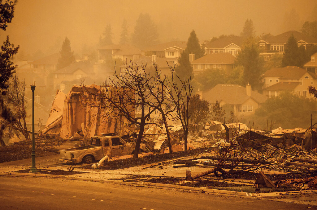 Destruction from California wildfires