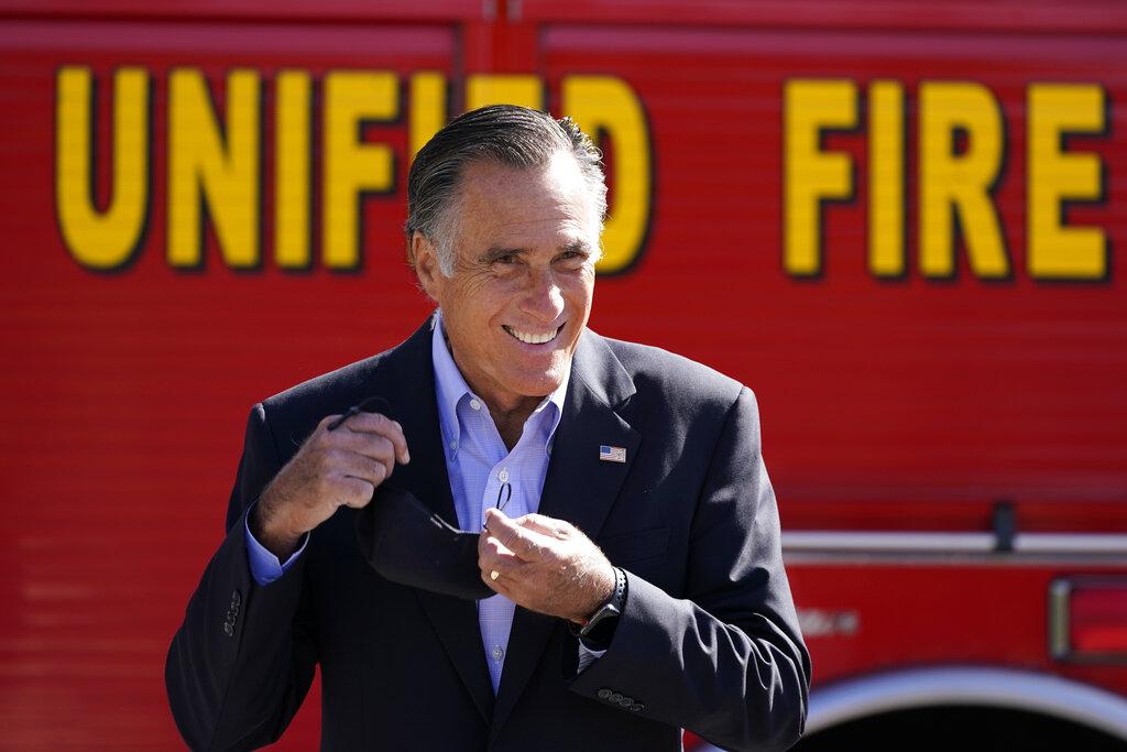 Mitt Romney discusses wildfires
