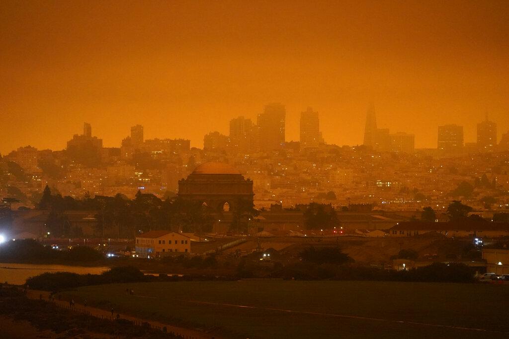 Smoky haze from wildfires