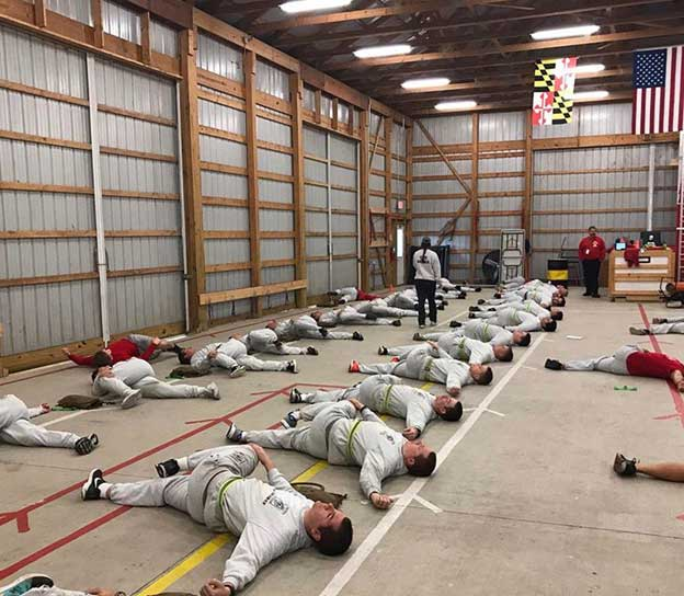 Recovery session for Recruit Class 26 led by Kayla Schmit.