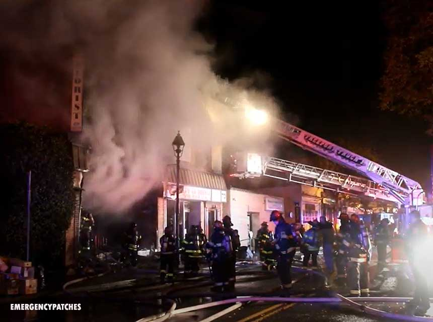 Explosion in Freeport, Long Island