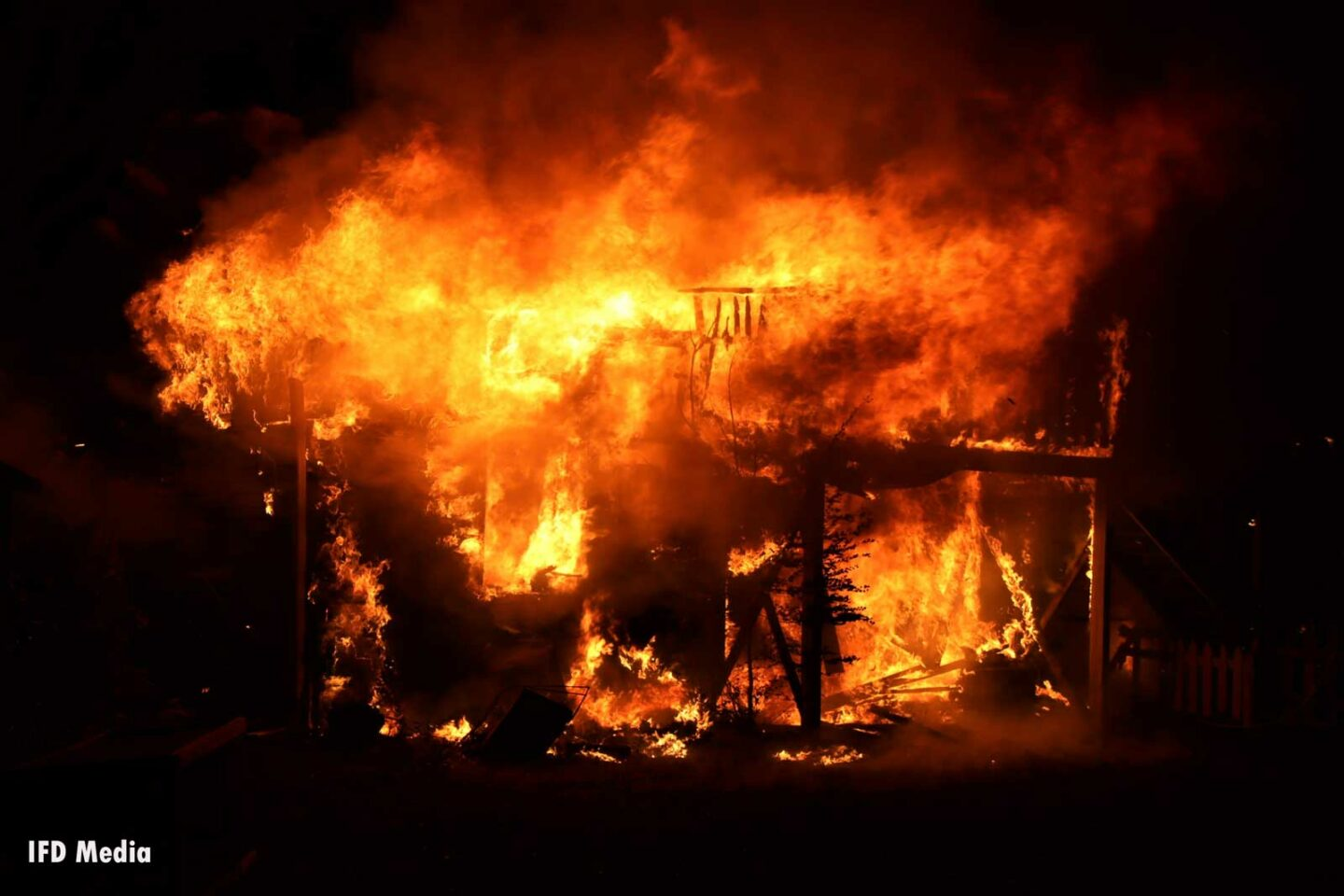 Raging inferno in Indiana where firefighters struggled with water supply