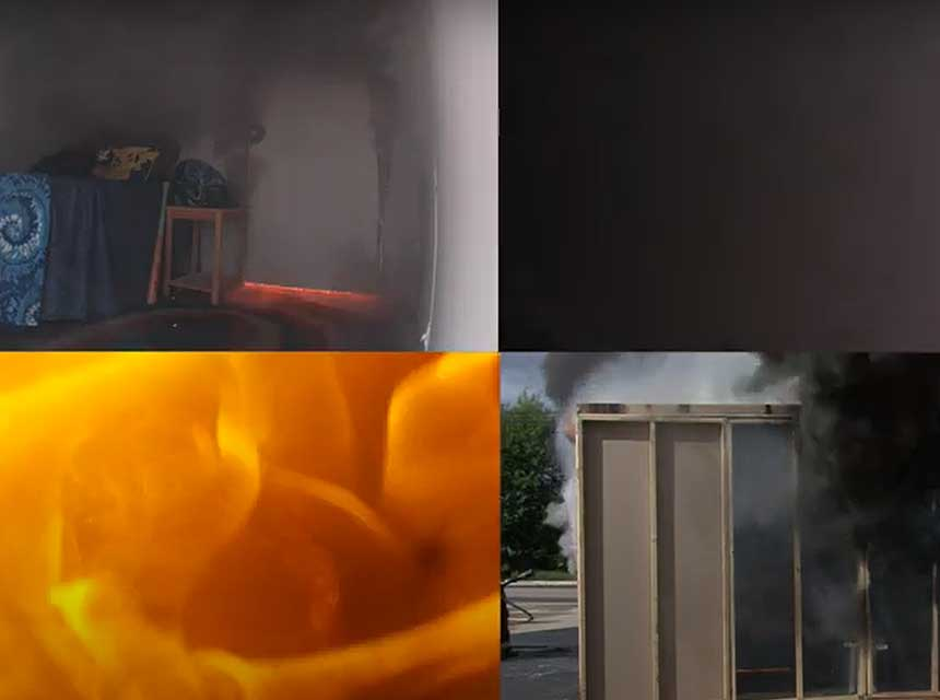 Bartlett Fire District closed door prop