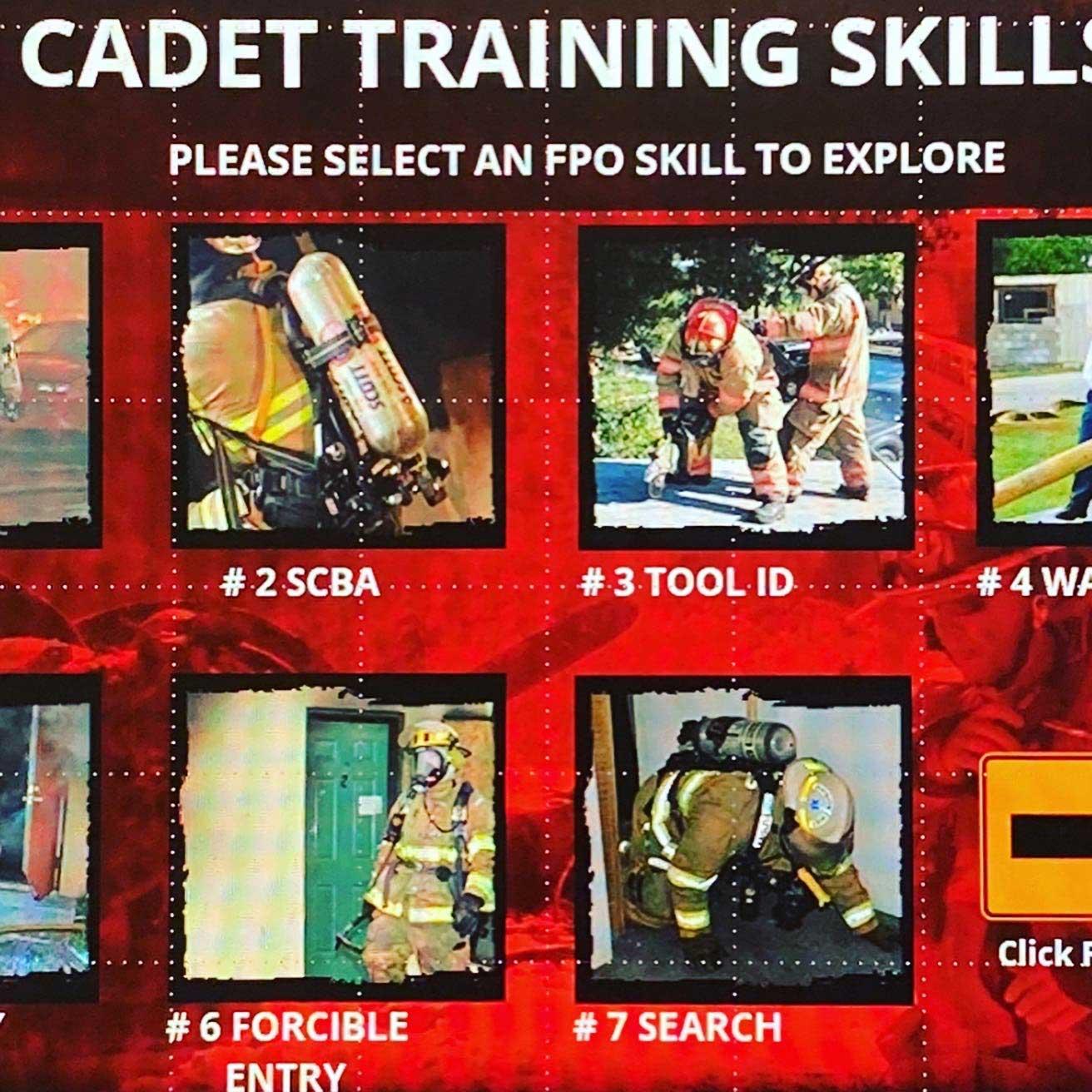 Example of cadet training skills slide