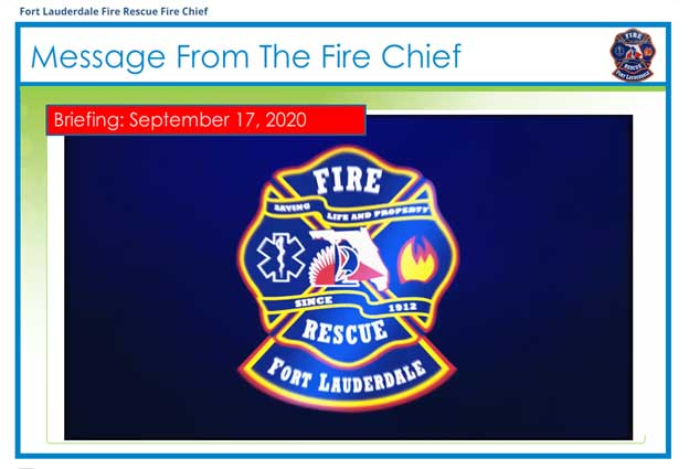 Message from the fire chief slide