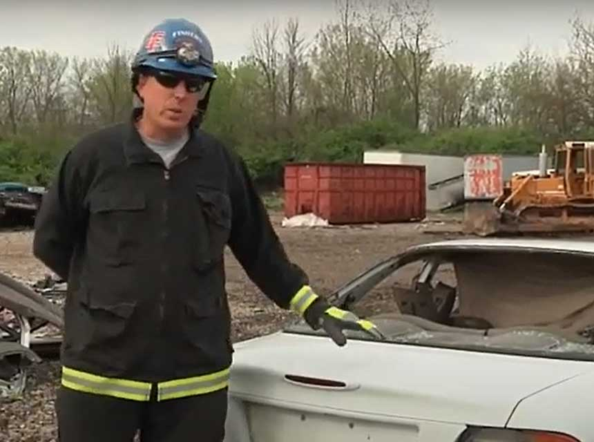 Clinton Crafton on vehicle extrication