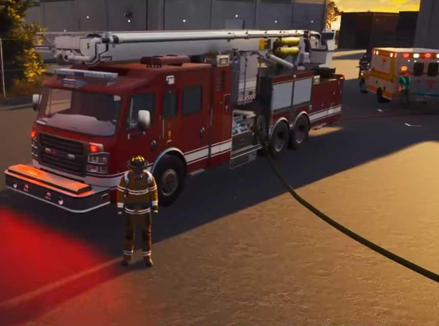 Rosenbauer trucks in video game