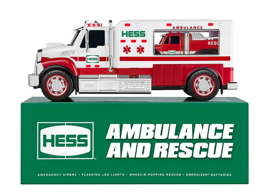 Hess ambulance and rescue truck