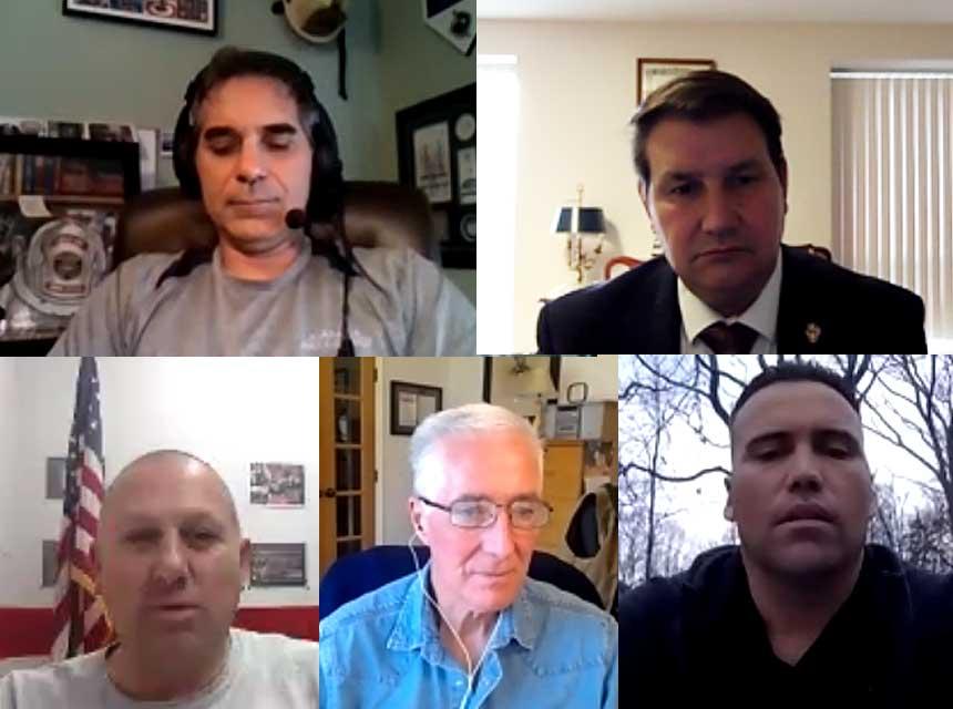 Frank Viscuso, Frank Ricci, A.J. Hansen, Bobby Halton, and P.J. Norwood