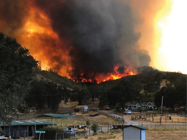 Massive wildfires