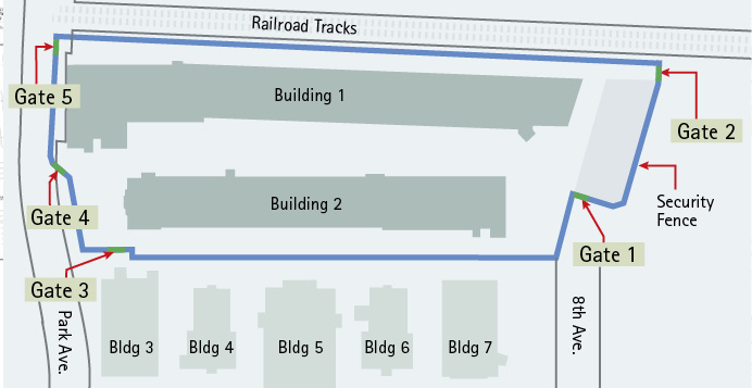 Updated Site Plan with New Temporary Access Gates
