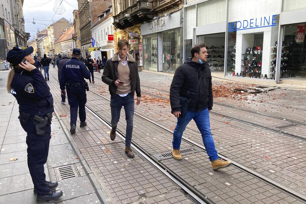 Croatia earthquake damage