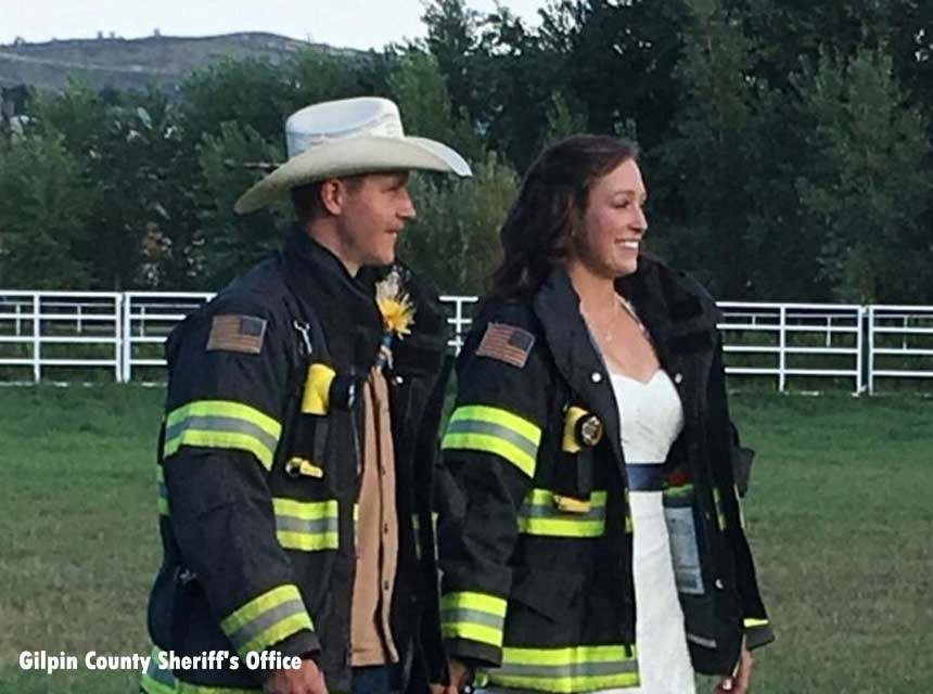 Lieutenant Cody Allen and his wife Volunteer Firefighter Shelby Allen