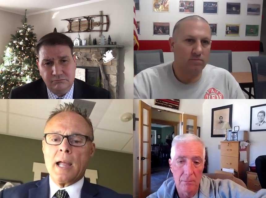 Frank Ricci, P.J. Norwood, Greg Markley, and Bobby Halton
