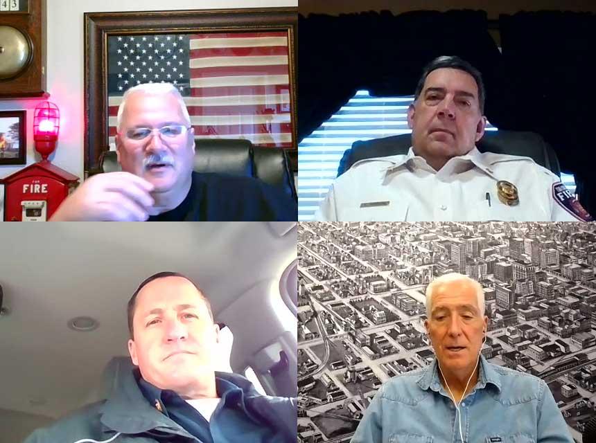 Rick Lasky, Scott Thompson, Terry McGrath and Bobby Halton