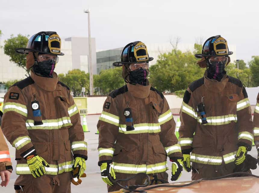 Miami-Dade fire recruits in masks