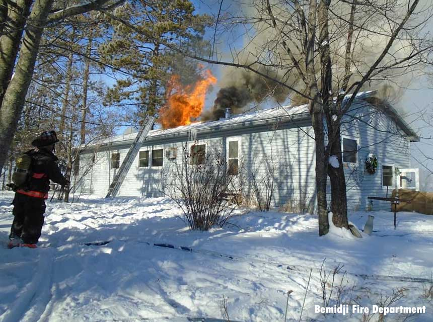 Bemidji house fire, January 2021