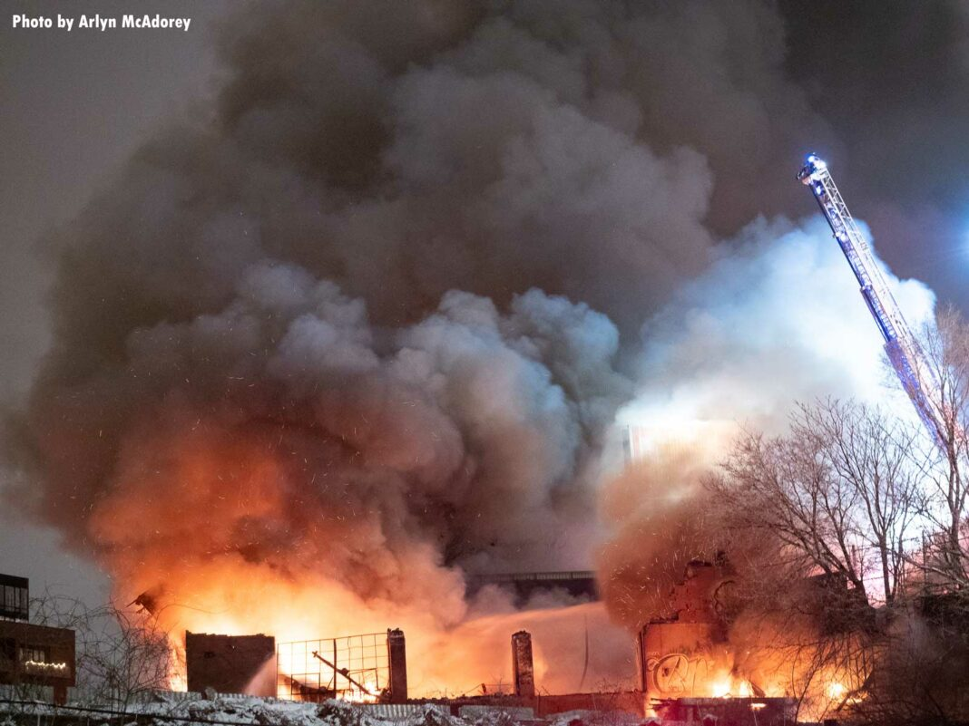Major fire at an industrial site in Toronto