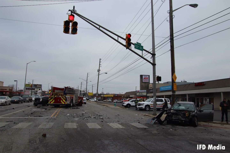 Crash involving Indianapolis Fire Department fire truck