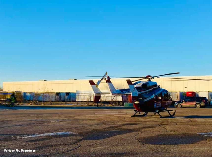 University of Chicago Aeromedical Network assists with transporting a trauma patient