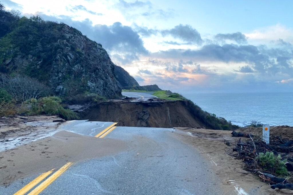 Storm damage in California