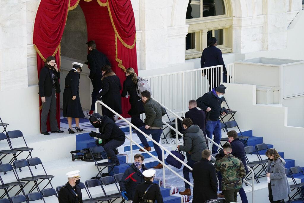 U.S. inauguration evacuation because of fire