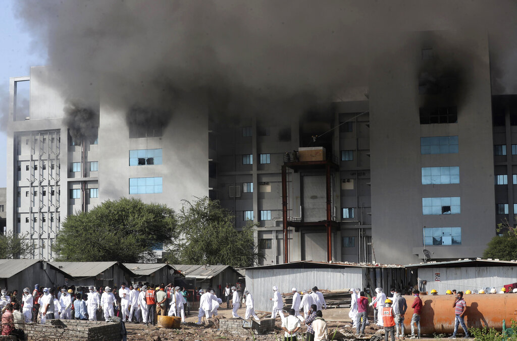 Fire at vaccine maker in India