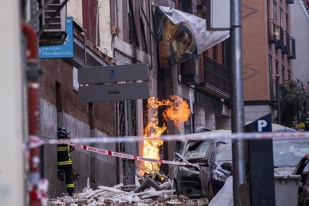 Scene of Madrid explosion