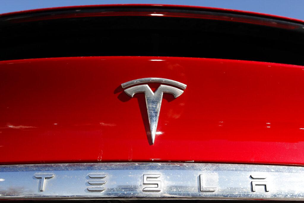 Tesla symbol on vehicle
