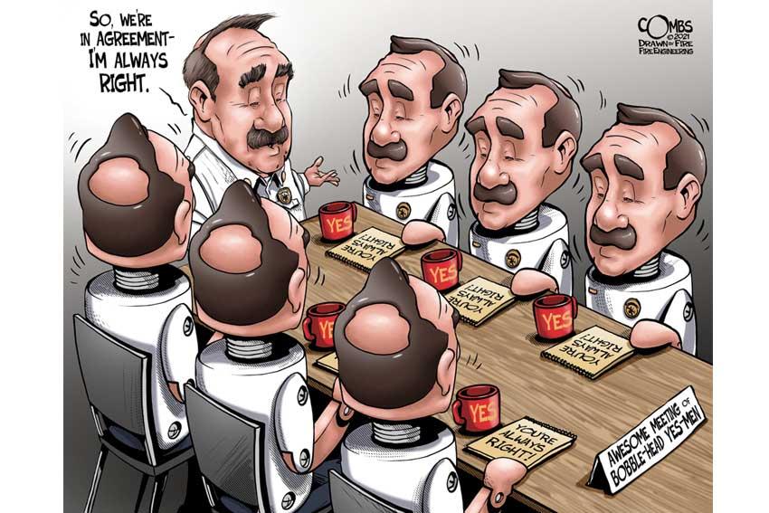 Bobblehead fire chiefs