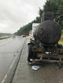 Hazmat incident on roadway
