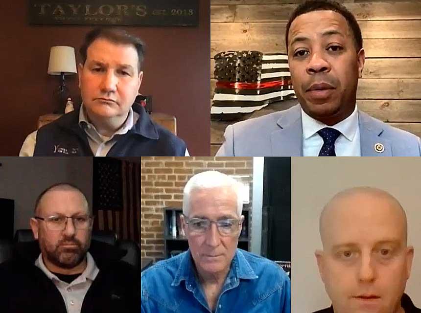 Frank Ricci, Mahlon Mitchell, Sean Mitchell, Bobby Halton, and P.J. Norwood