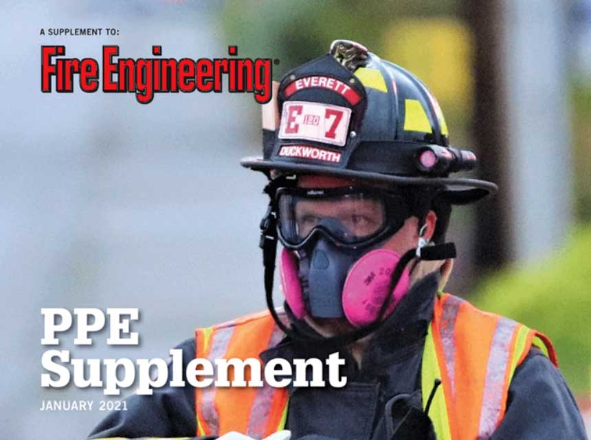 Firefighter in PPE