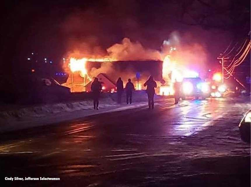 Jefferson town hall burns
