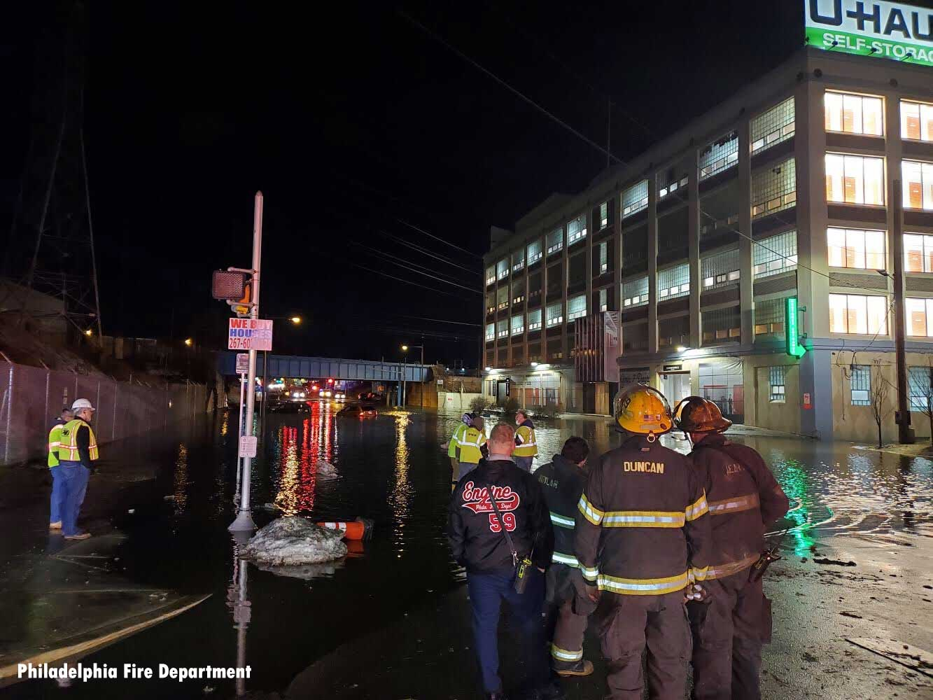 Philadelphia firefighters perform water rescues