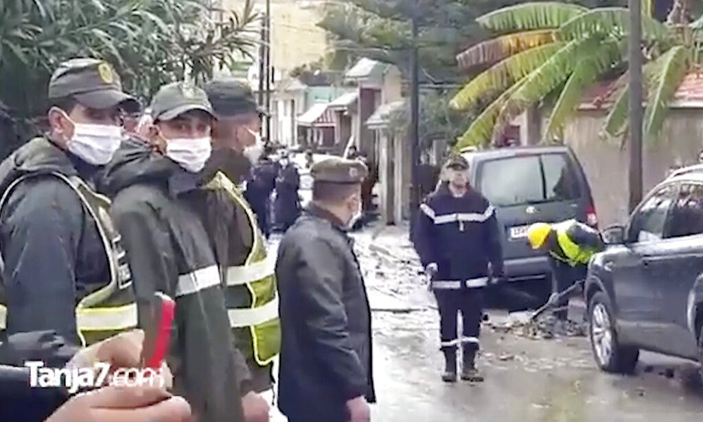 Morocco flood rescue