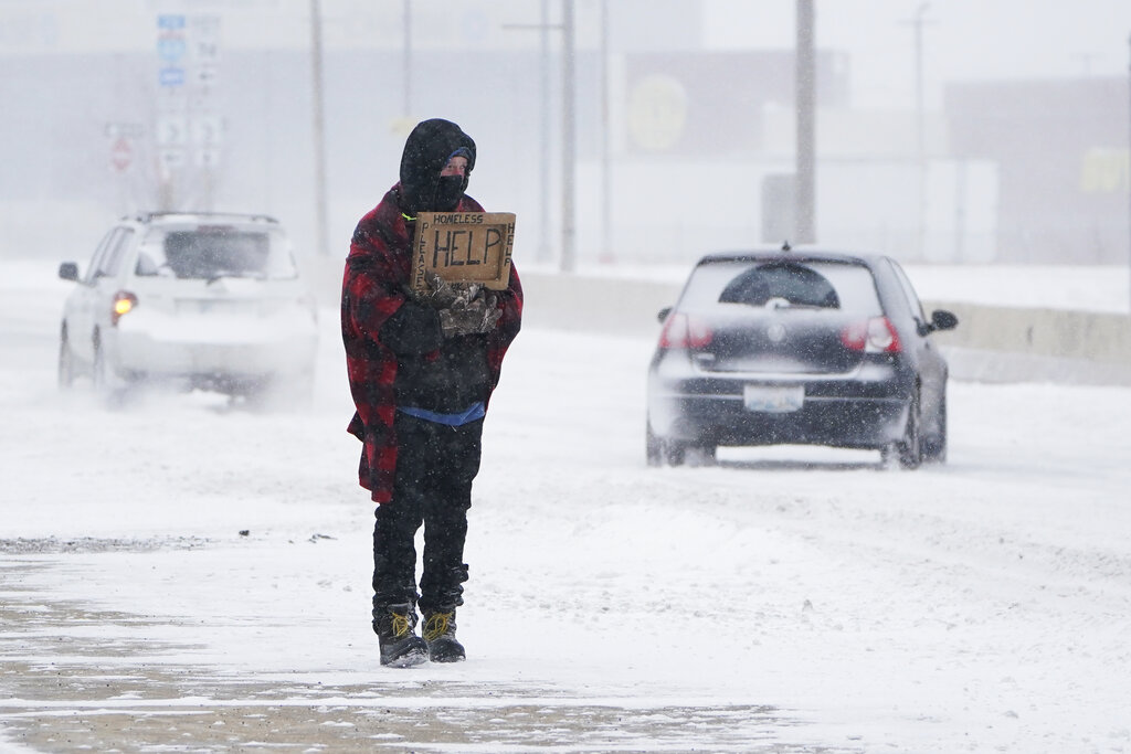 Person stranded in Oklahoma City snowstorm